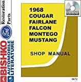 bishko automotive literature 1968 Ford Fairlane Falcon Mustang Torino Ranchero Mercury Shop Service Manual CD