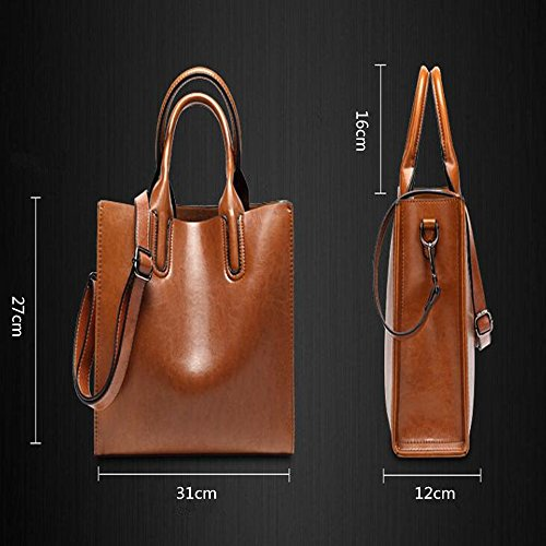 Dame Retro Elegant Aktentasche Schultertasche Tote Bag Dual-Use-Bag