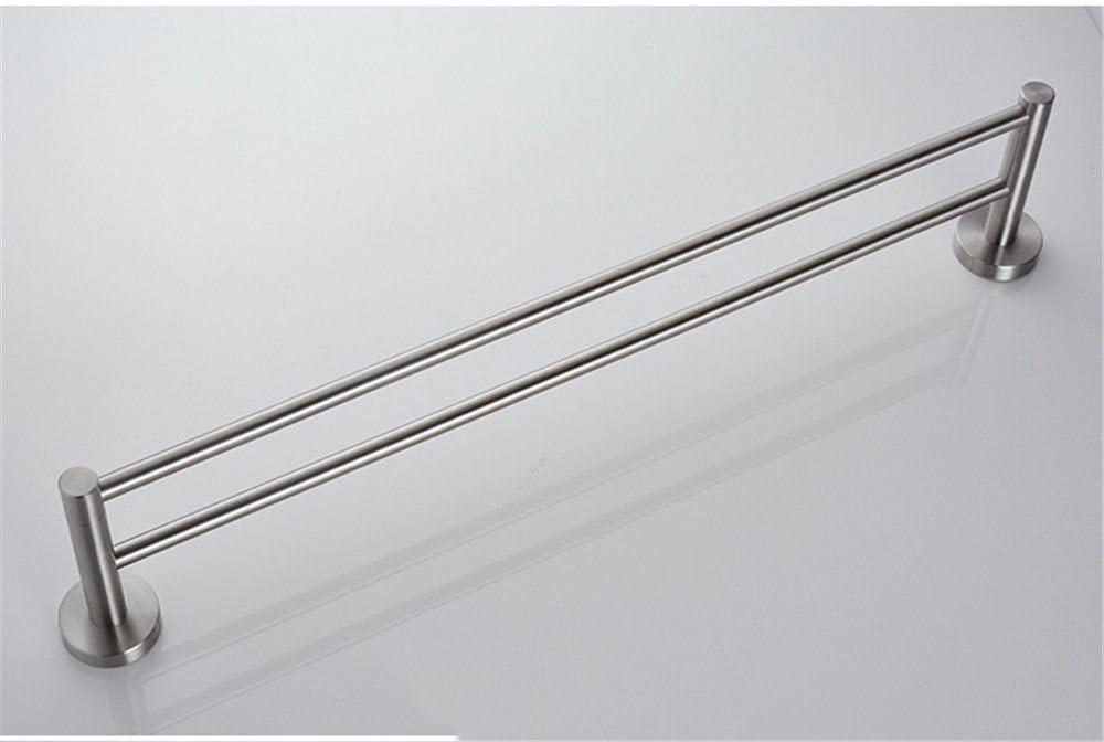 304 en acier inoxydable porte-serviettes double bross/é porte-serviettes mat porte-serviettes gratuit /épaisse serviette pas besoin de poin/çonner///70 cm