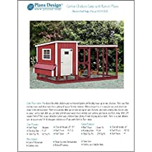 Building Chicken Coop with Kennel / Combo Hen House and Run Plans, Design 50410LM