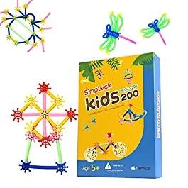 SIMPLOCK KIDS200 Educational Toys for Kids Building Toys Creative Toys Kit Gift Set for Preschool Kindergarten Elementary School Group Activity Teaching Aid Education Method