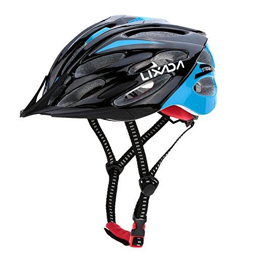 Lixada Cycling Helmet 24 Vents Adjustable Bicycle Helmet with Visor Breathable Mountain Bike Helmet Lightweight Road…
