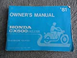 1981 Honda CX500 Owners Manual CX 500 Deluxe