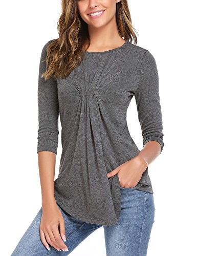 #RankBoosterReview #Sponsored  #Women Shirring Drape Front Blouse Vogue Scoop Neck