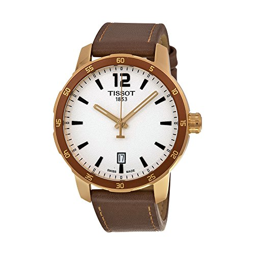 Tissot-Mens-Quickster-Swiss-Quartz-Stainless-Steel-and-Leather-Watch-ColorBrown-Model-T0954103603700