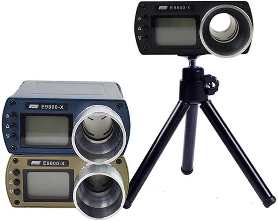 Festnight Genauigkeit E9800-X Geschwindigkeitstester mit LCD-Bildschirm Energiesparendes leichtes tragbares Multifunktions-Chronoskop