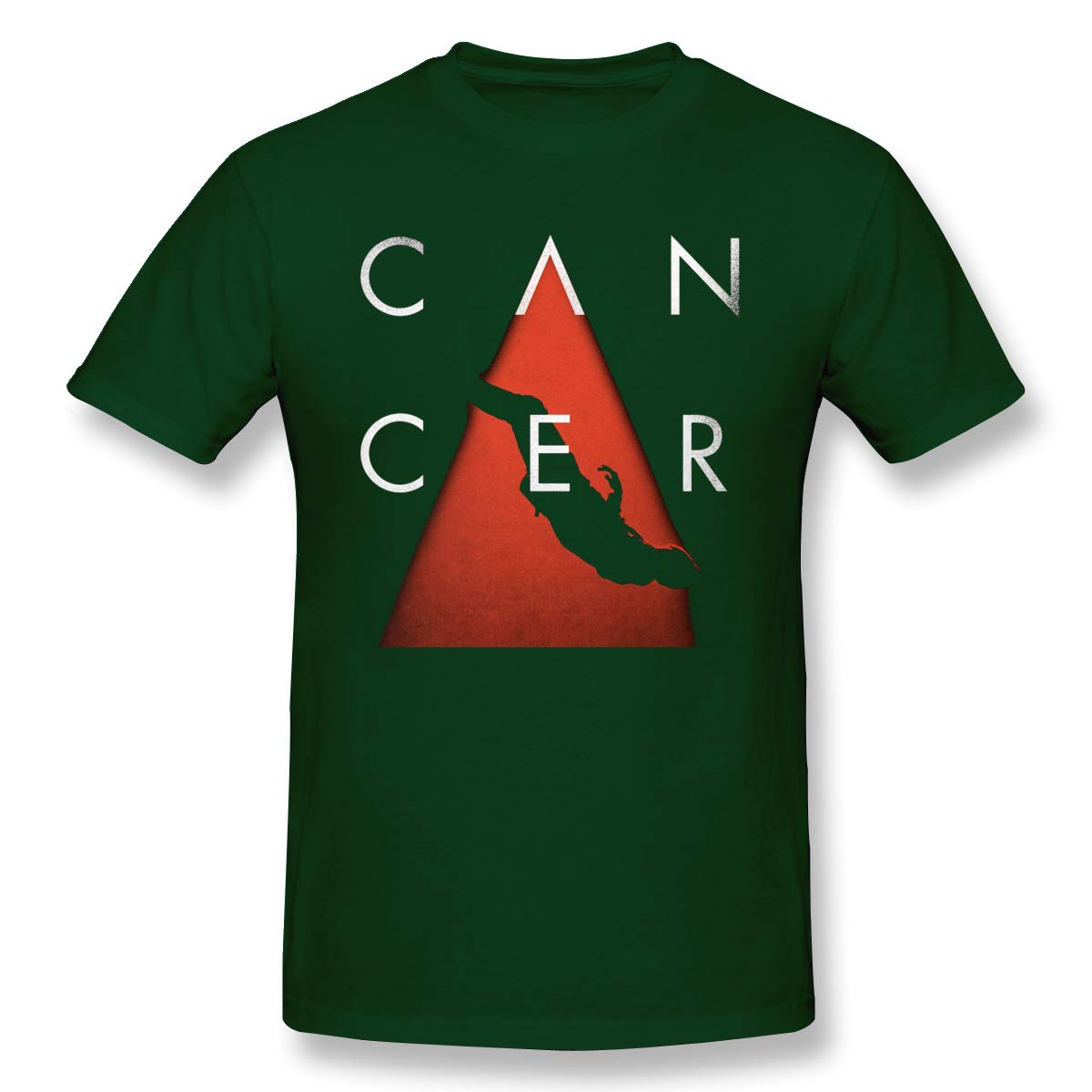 Man Cancer Comfortable Forest Green Shirts