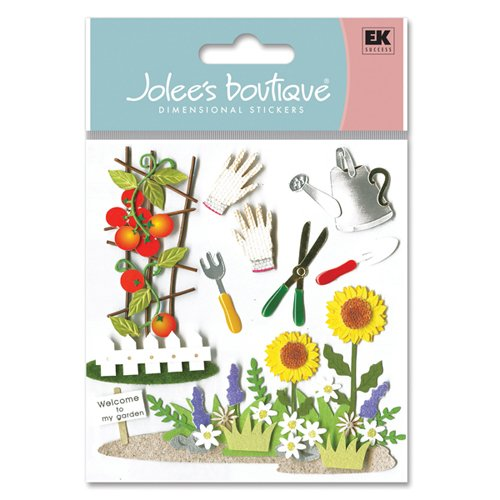 Jolee's Boutique 3-Dimensional Ornate Stickers, Gardening