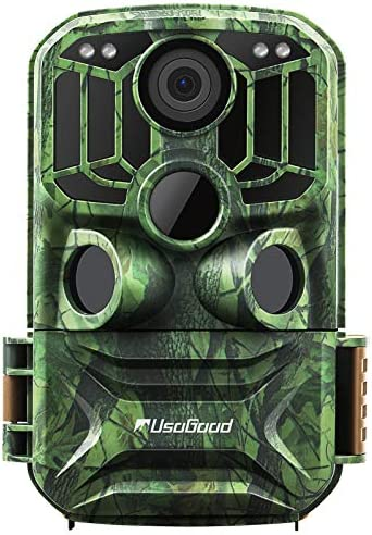 "usogood Trail Camera WiFi 24MP 1296P Game Cameras with No Glow Infrared Night Vision Motion Activated Hunting Cam, 2.0"" LCD IP66 Waterproof for Outdoor Wildlife Monitoring"