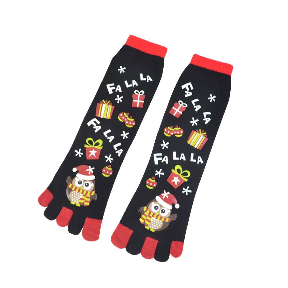 aaerp Calze natalizie festive, calze a cinque dita uomo e donna autunno e inverno decorazioni natalizie