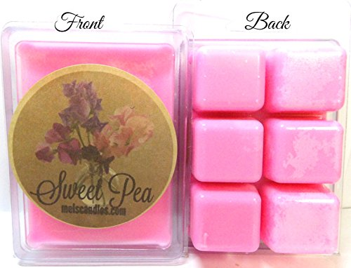Mels Candles & More Sweet Pea 3.2 Ounce Pack of Soy Wax Tarts - Scent Brick, Wax Melts ()