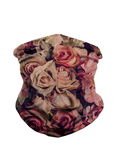 iHeartRaves Versailles Floral Rose Seamless Mask Bandana