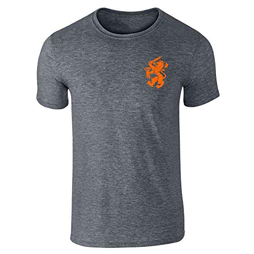 (Dutch Soccer Retro National Team Holland Dark Heather Gray 5XL Short Sleeve T-Shirt)