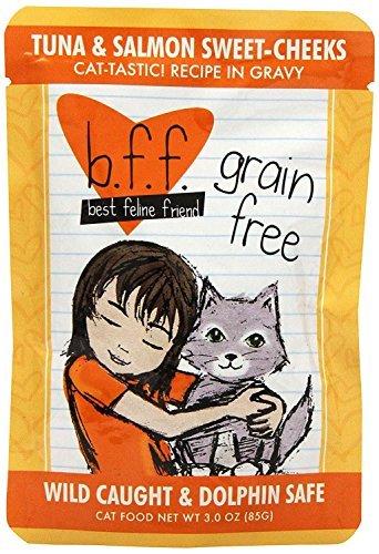 Best Feline Friend (BFF) Grain Free Cat Food Variety Pack - 3 Oz. Pouches - Tuna & Salmon, Tuna & Lamb, Tuna & Turkey, Tuna & Duck, Tuna & Chicken, and Tuna & Beef (24 Pack Bundle)
