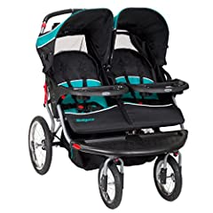 The Baby Trend Navigator Double Jogger Stroller is designed to offer both comfort and safety for your baby. Ideal for two children, this toddler jogger stroller is a perfect option for those who have twins. This Baby Trend double stroller's a...