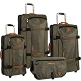 Timberland 4 Piece Spinner Luggage Set, Burnt Olive/Burnt Orange