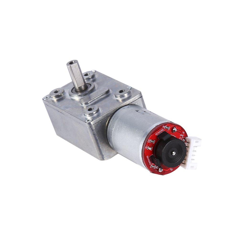 DC Worm Gear Motor 12/V High Torque Reducci/ón Gear Box con codificador robusta con autobloqueo 6/mm eje de salida