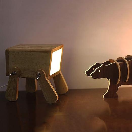 Moderne Led Design Chien Ajustable Lampe de Table de Chevet