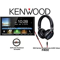 Kenwood eXcelon DDX9903S CD DVD w/ Bluetooth HD Radio and Headphones KH-KR900 with a FREE SOTS Air Freshener Package
