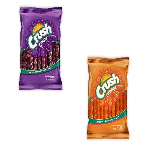 Orange Licorice (Kenny's Juicy Twists - Orange Crush and Grape Crush - Variety 2 Pack - Nt. Weight 10 oz - Fresh Product by Kenny's Twists)