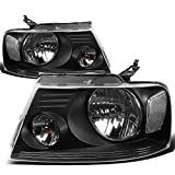 Ford F150 11th Gen Black Housing Clear Corner Headlight