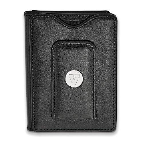(Roy Rose Jewelry Sterling Silver LogoArt University of Virginia Black Leather Wallet)