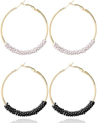 Women Vintage Multicolor Earrings Bohemian Round Ethnic Boho Ear Studs JewelryGX