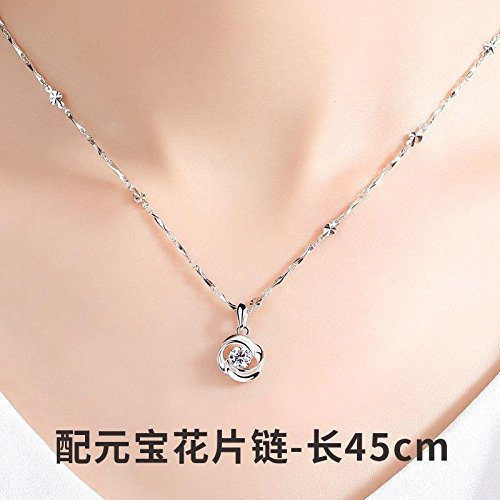 Generic Mom_made_nice_money_ Korean simple _crescent_ pendant necklace clavicle chain necklace pendant women girl _fish_mill_ Lucky _boyfriend