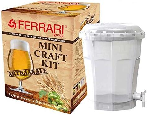FERRARI Kit de Regalo de la Cerveza de fermentación de tonelería 13,5 litros de artesanía biy ...