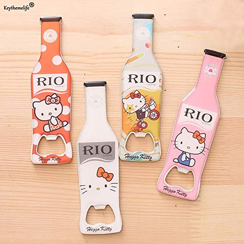 Corkscrews & Openers - Hello Kitty Stainless Steel Beer Bottle Shape Opener Magnetic Refrigerator Decor Gadgets Bar 5d - Pineapple Spoon Atomizer Accessories Professional Bucket Muddler