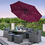 Best Patio Umbrellas - Best Choice Products 10FT Deluxe Solar LED Lighted Review