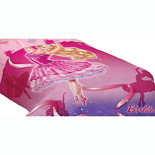 Mattel Barbie Ballet Microfiber Comforter, Twin by Mattel