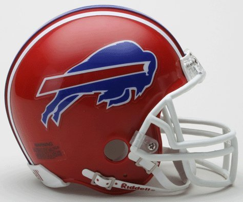 Riddell Mini Replica Throwback Helmet - Riddell Buffalo Bills Mini Replica Throwback Helmet