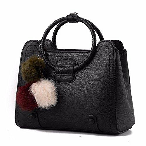 rojo de de Bandolera Crossbody Mujer Mano Bag Bolso Bolso CCZUIML Rosa xfp0vqI