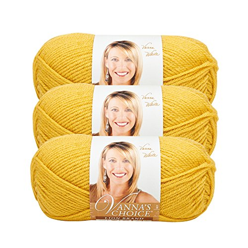 Yarn Mustard - (3 Pack) Lion Brand Yarn 860-158I Vanna's Choice Yarn, Mustard
