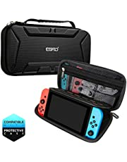 Carry Case for Nintendo Switch, Nintendo Switch Case with Large Storage, Protective Hard But Lightweight Travel Carrying Case for 15 Game Cartridge, Nintendo Switch Console, Joy-Con other Accessories