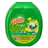 Gain Flings Laundry Detergent Pacs, Original Scent, 81 count (4 Pack(81 Count))