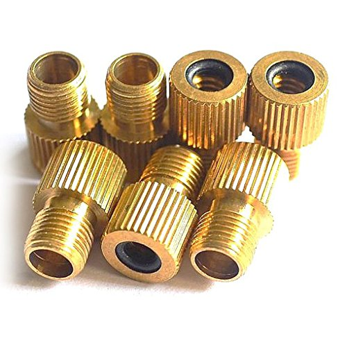 Pcs brass presta to schrader bike tire valve converter