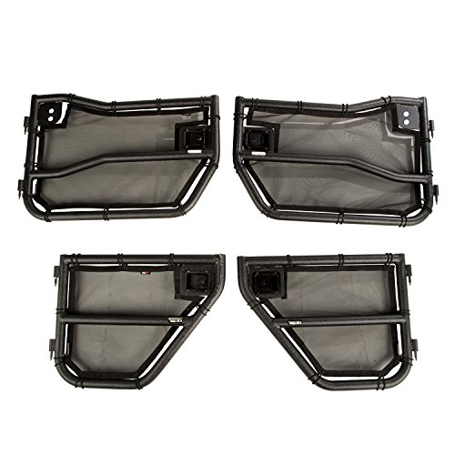 Rugged Ridge Tube Door with Eclipse Cover Kit 11509.26 (Door Mesh Tube Cover)