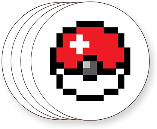 8 Bits Pokeball Pokémon Jeu De Fan Pixel Art Dessous