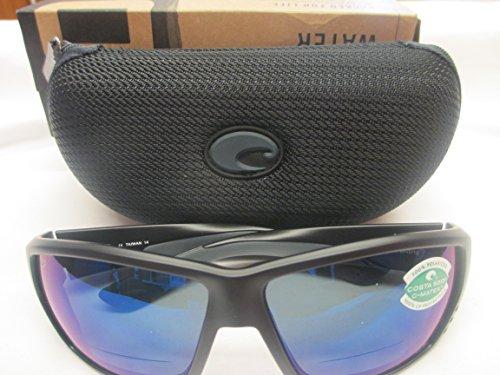 Costa Del Mar Tuna Alley C-Mate 2.50 Sunglasses, Matte Black, Blue Mirror -