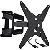 Cattail TV Wall Mount Dual Articulating Arm Bracket With Full Motion Swing Out Tilt For 32 39 40 42 43 45 48 49 50 55 60 Inch LED LCD OLED Plasma Flat Screen Monitor Up To 132Lbs VESA 400x400mm