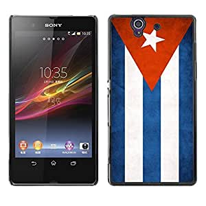 Shell-Star ( National Flag Series-Cuba ) Snap On Hard Protective Case For SONY Xperia Z / L36H / C6602 / C6603 / C6606