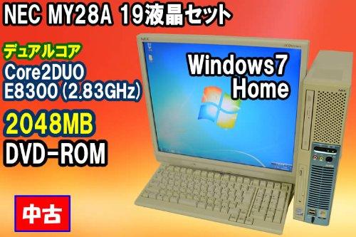 売れ筋商品 NEC 中古デスクトップパソコン Win7搭載 + MY28A/E-5 B0082IZJRG Core2DUO E8300 Core2DUO (2.83GHz) + 19インチ液晶セット WinXPPro B0082IZJRG, 出水市:04678131 --- arbimovel.dominiotemporario.com