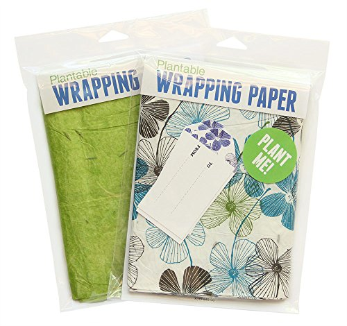 Blooming Plantables Plantable Wrapping Paper - 2 Pack - Aloe and Floral (Plantable Wrapping Paper)
