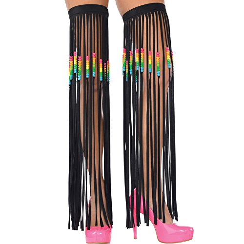 Electric Party Fringe Leg