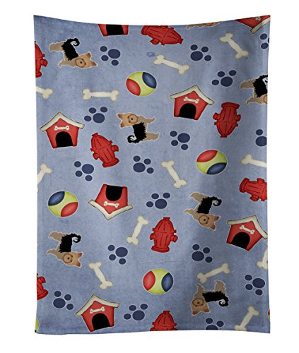 Caroline's Treasures BB4128KTWL Dog House Yorkshire Terrier Kitchen Towel, 25