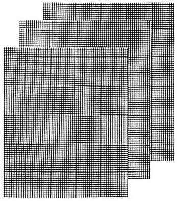 Wateralone Lot de 3 tapis de grill antiadhésifs, résistants, réutilisables et faciles à nettoyer – Fonctionne sur les barbecues électriques au charbon de bois