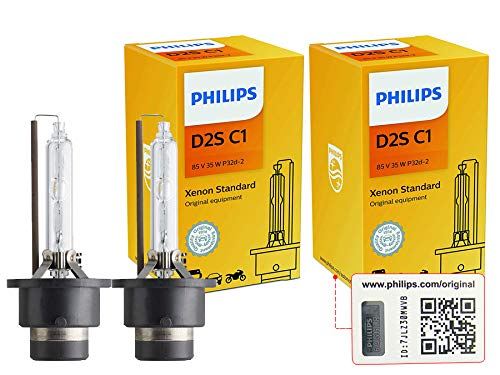 Philips D2S Xenon HID Headlight Bulb, Pack of 2 ()