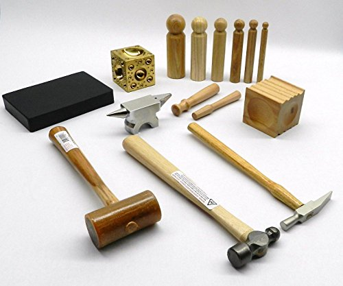 METALSMITH TOOL KIT BASIC BLOCKS HAMMERS METAL SMITHING JEWELRY MAKING TOOLS SET (LZ 7.5 R BOX A) NOVELTOOLS
